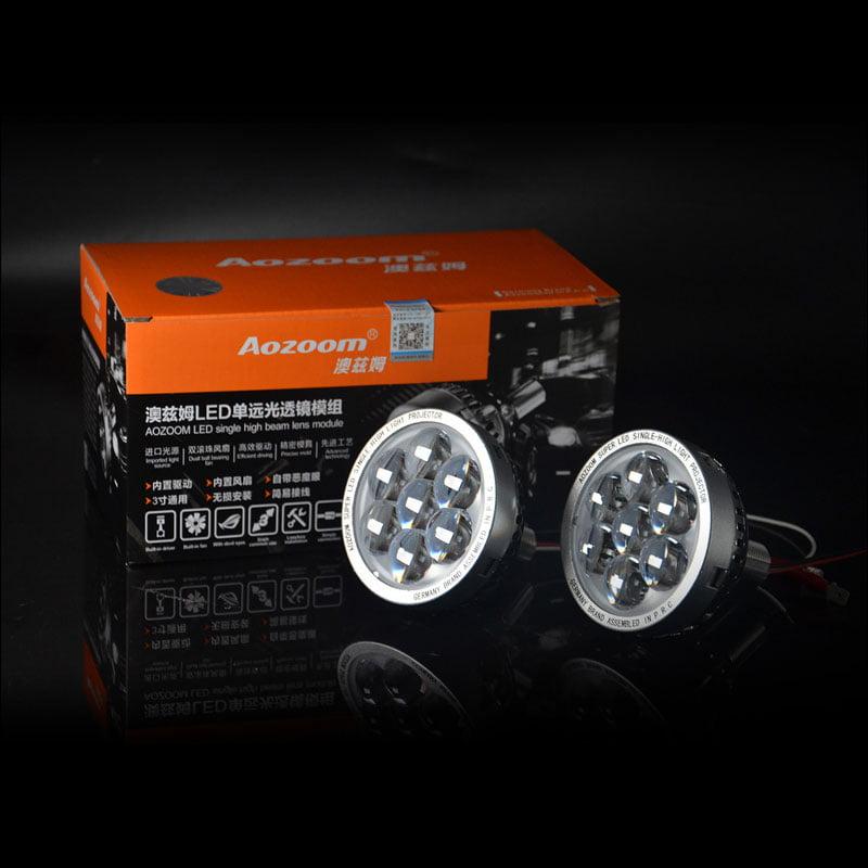 High Beam Projector Retrofit: Hi-Lens LED