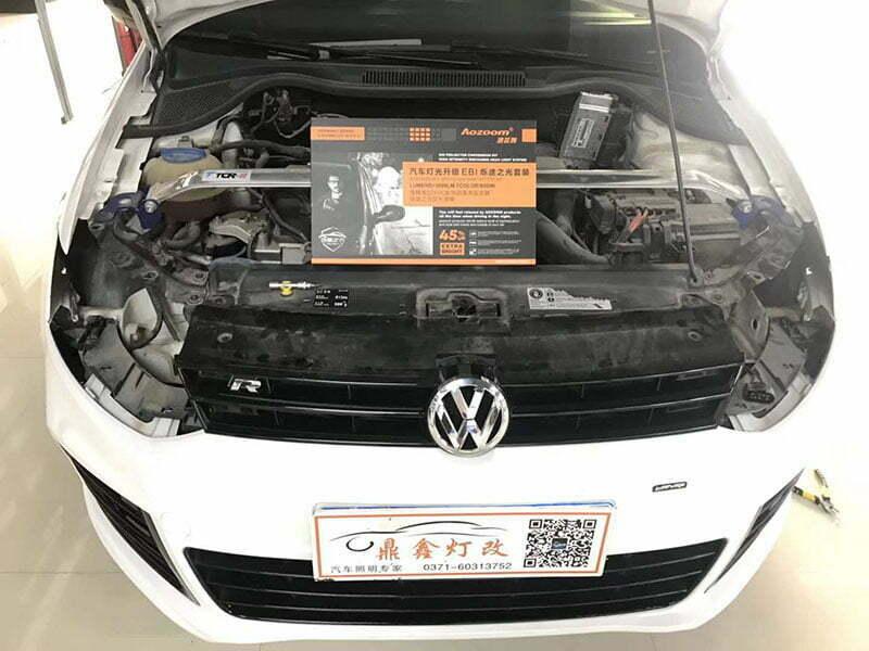 Volkswagen Polo Retrofitting Aozoom E55-R HID Projector