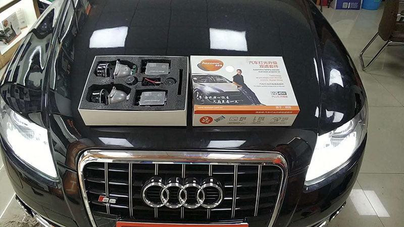 Audi A6 Retrofitted D2S Bi-Xenon Projector