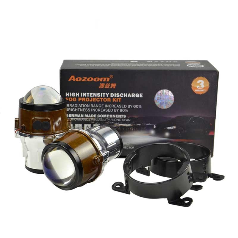 Aozoom 2.5 Inch Fog Lamp Hi/Low Beams Bi Xenon Hid Projector | Using H11 Bulb
