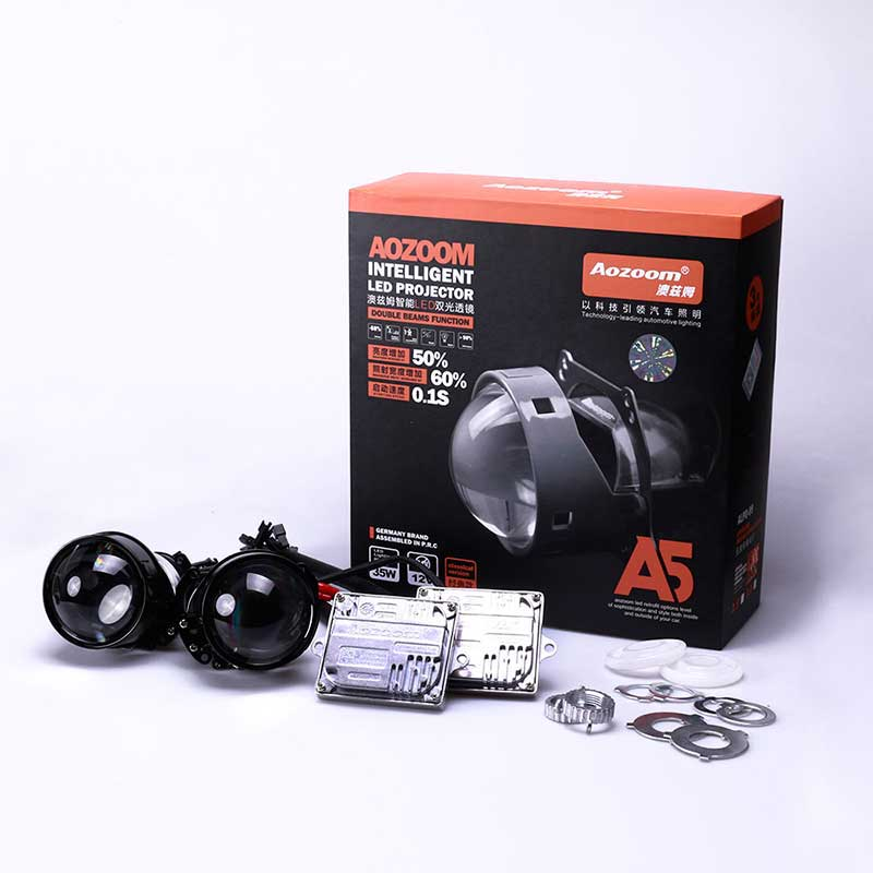 Aozoom A5 3-Inch Bi-Led Projector Headlight Lens | 35 Watt 3600 Lumens