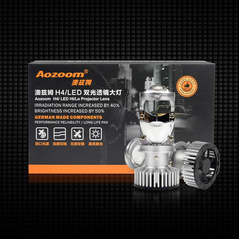Aozoom H4 LED Hi-Lo Mini Projector Headlight Lens | 45 Watt 4200 Lumens