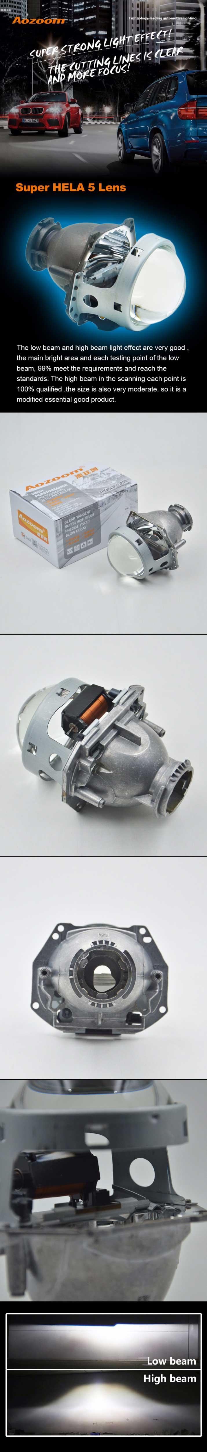 Hela 5 3-Inch Bi-Xenon Projector Headlight