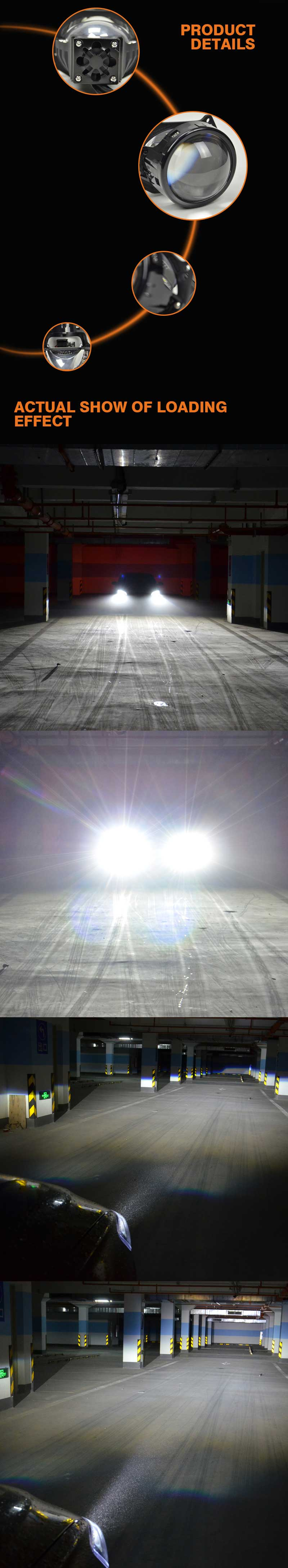 A4 3-Inch Bi-Led Projector Headlight
