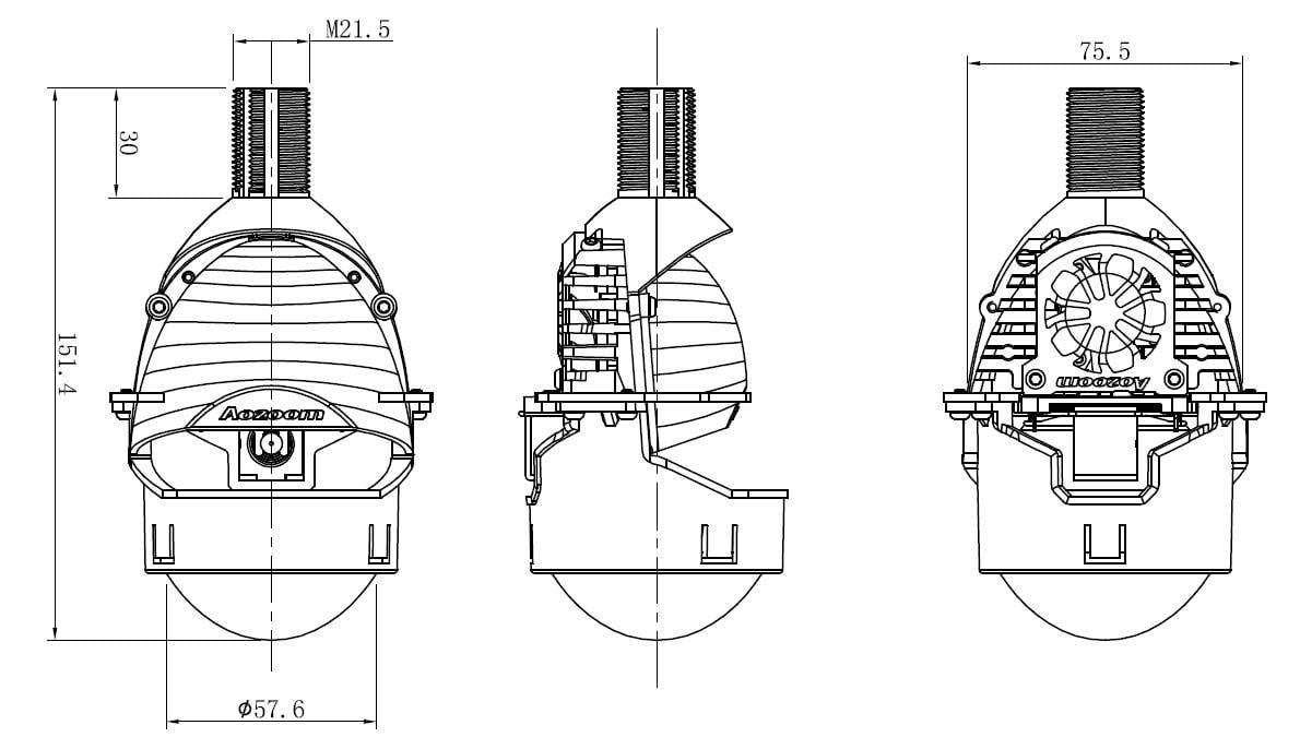 A5 2.5-Inch Bi-Led Projector
