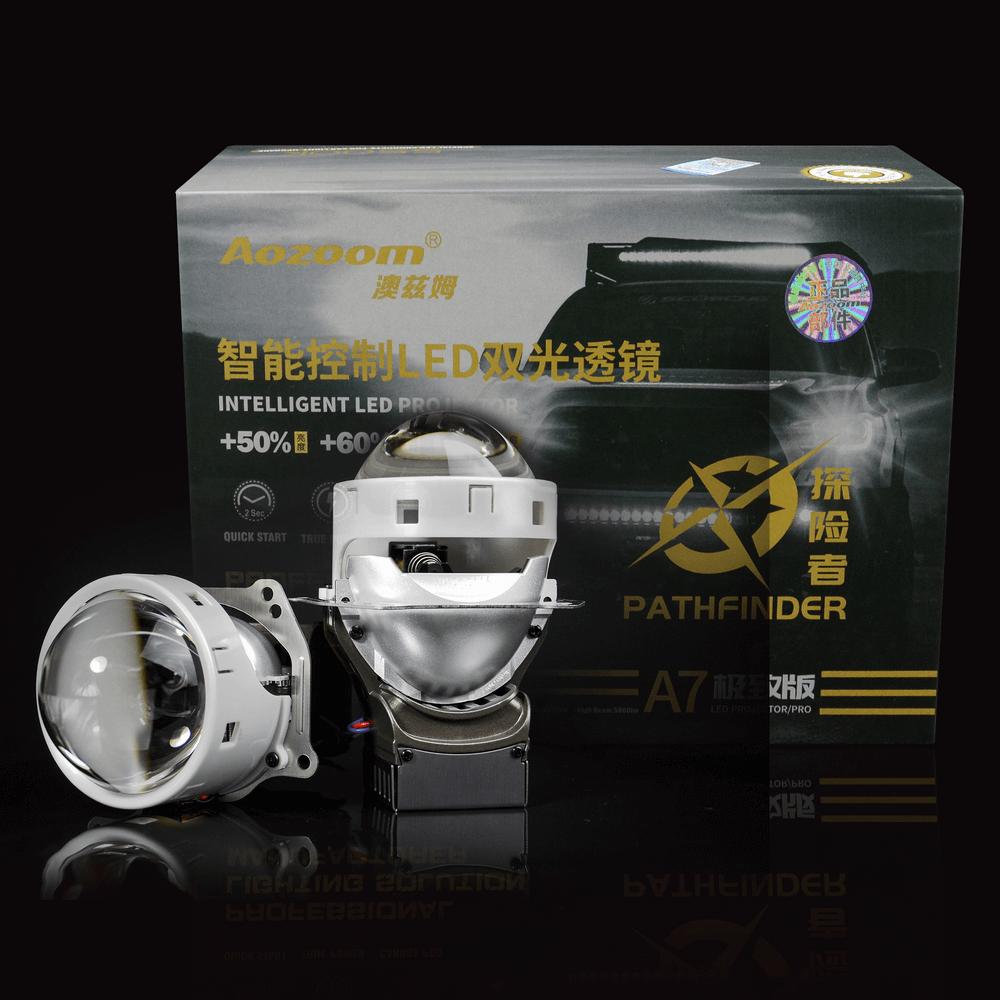 Aozoom A7 3-Inch Bi-Led Projector Headlight Lens | 42 Watt 5800 Lumens